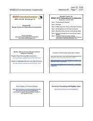 MS&E247s; International Investments Handout #2 Page 1 ... - PageOut