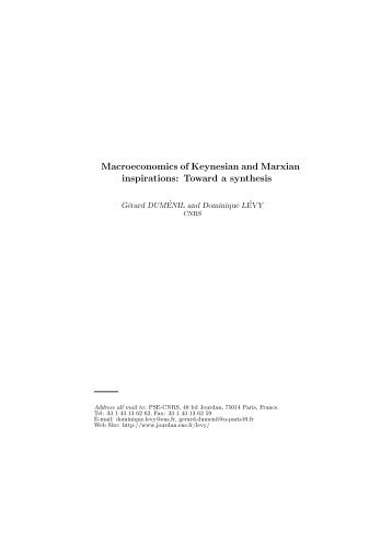 Macroeconomics of Keynesian and Marxian ... - Jourdan.ens.fr