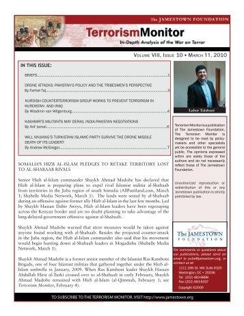Volume VIII, Issue 10 March 11, 2010 - The Jamestown Foundation