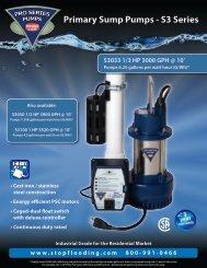 Pumps 6.25 gallons per watt hour (G/Wh)