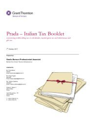 Prada – Italian Tax Booklet - Prada Group