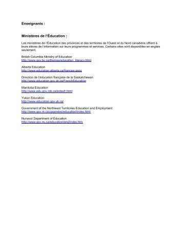 Liste de liens Internet