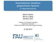 Automatisches Verstehen gesprochener Sprache - Professur für ...