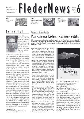 Fledernews 6 / 2006 - Fledermaus BE