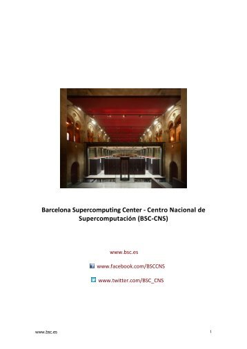 Perfil del Barcelona Supercomputing Center – Centro Nacional de ...