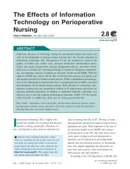 The Effects of Information Technology on Perioperative ... - AORN