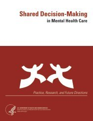 Shared Decision-Making in Mental Health Care - SAMHSA Store ...