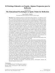 El Psicólogo Educativo en España. Algunas Propuestas para la ...