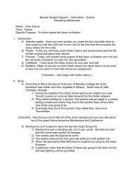 Sample Student Speech – Informative - Outline Revealing ...