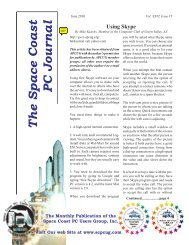 The Space Coast PC Journal - Association of Personal Computer ...