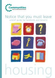 Notice that you must leave: a brief guide for landlords and tenants