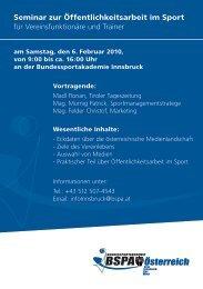 Seminar zur Öffentlichkeitsarbeit im Sport für Vereinsfunktionäre und ...