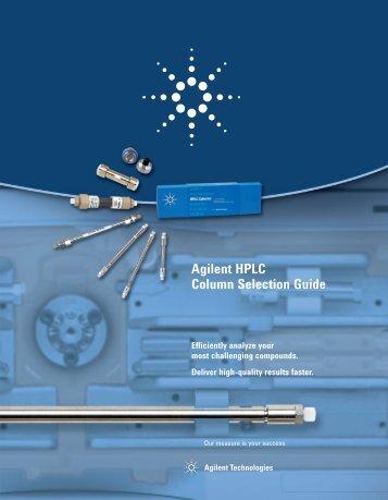 Agilent HPLC Column Selection Guide