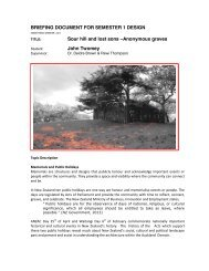 BRIEFING DOCUMENT FOR SEMESTER 1 DESIGN Sour hill and ...