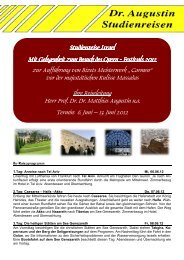 Festivals auf Massada 2012 - Dr. Augustin Studienreisen