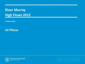 SA River Murray Flood Preparedness and Risk Assessment