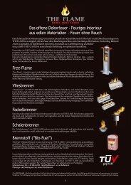 Das offene Dekorfeuer - Feuriges Interieur aus edlen ... - The Flame
