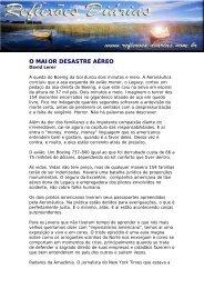 O MAIOR DESASTRE AÉREO - Reflexoes.diarias.nom.br
