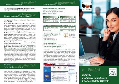 Podání Přihlášky a odhlášky zaměstnanců k nemocenskému pojištění