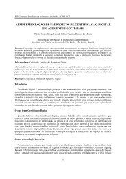 a implementação de um projeto de certificação digital em ... - SBIS