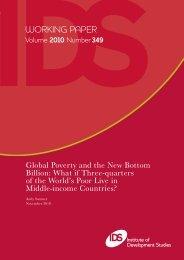 Andy Sumner - Institute of Development Studies