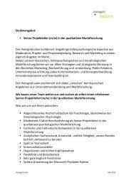 Senior Projektleiter (m/w) in der qualitativen ... - Rheingold Salon