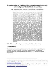 Transformation of Traditional Marketing Communications in ... - arXiv
