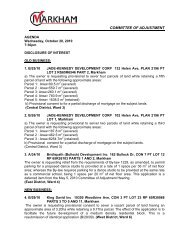 Committee of Adjustment Meeting Agenda, October 20, 2010