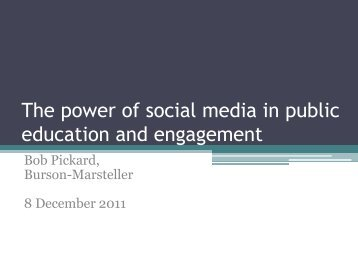 The power of social media in public education and engagement