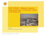 HEAT STRESS – Mitigation measures implemented within a ... - BOHS