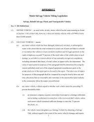 APPENDIX C Model Salvage Vehicle Titling Legislation