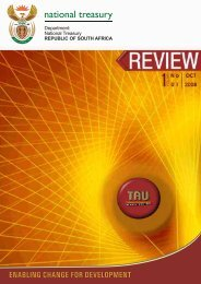 TAU Review - National Treasury