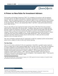 A Primer on New Rules for Investment Advisers - Duane Morris LLP