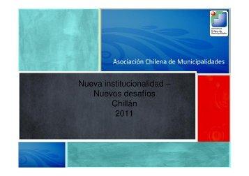 Presentación Asociativismo Municipal - Asociación Chilena de ...