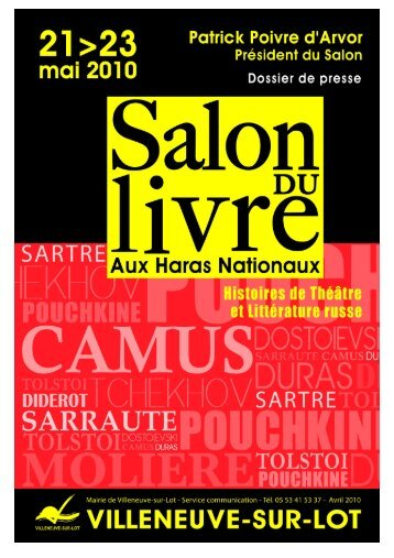 Dossier de presse Salon du Livre 2010 1 - Villeneuve sur Lot