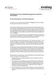 Zusammenfassung der Tagungsergebnisse (PDF)