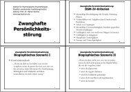 Zwanghafte Persönlichkeits- störung - Institut für Psychologische ...