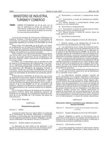 BOE 182 de 31/07/2007 Sec 1 Pag 33050 a 33068 - Ministerio de ...