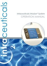 Intraceuticals Infusion System OPERATION MANUAL - Nyt Smil