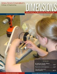 Spring 2009 - Mechanical Engineering - Iowa State University