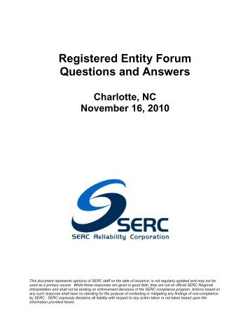 REF Questions & Answers - Charlotte Seminar - SERC Home Page
