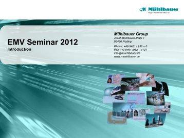 1.1 EMV Seminar Introduction - Mühlbauer Group
