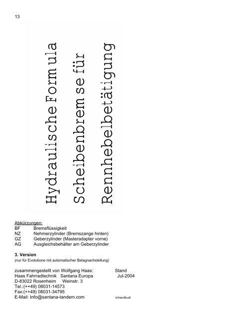 Hydraulische Formula Scheibenbremse für Rennhebelbetätigung