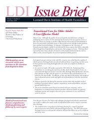 Transitional Care for Older Adults: A Cost Effective Model