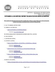 NOVEMBER 10, 2010 HISTORIC DISTRICT BOARD OF REVIEW ...