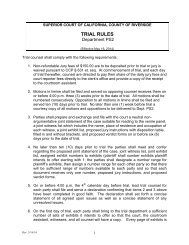 DEPARTMENT 2F - TRIAL RULES - Superior Court, Riverside