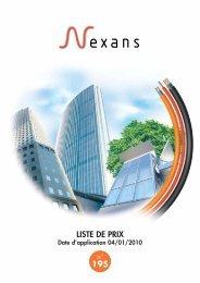 LISTE DE PRIX 195 - Nexans