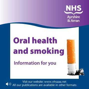 Oral health and smoking