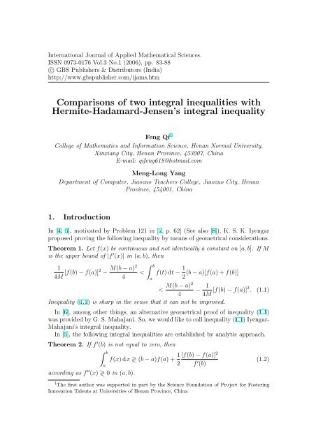 Comparisons of two integral inequalities with Hermite