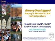 Network Communications - Emory Goizueta Business School ...